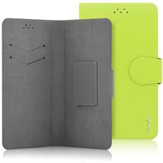 """Classic Detachable Custodia Universale a Libro per Dispositivi fino a 5"""" Colore Verde"""