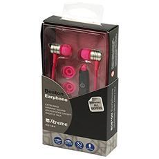 Auricolari Audio e Talk Boston con Microfono Colore Rosa