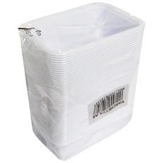 Vaschette Plastica X 50 Pezzi 90x125x45 Mm. - Vaschette Per Alimenti