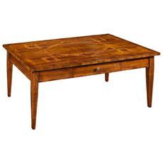 Tavolino In Legno Massello Da Salotto L. 127 P. 78 H. 51