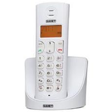Telefono Cordless Dect Gap Display Lcd 14 Segmenti Retroilluminato Falco Bianco