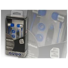 Auricolari Audio eTalk Boston con Microfono Colore Blu