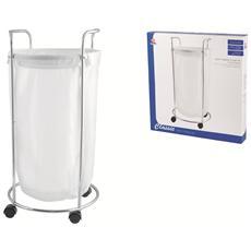 Porta Biancheria Cromato Cm40 H. 70 Sistemazione E Bucato