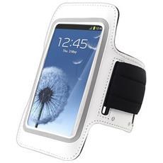 Custodia Fascia Da Braccio Sport Armband Bianco Samsung S3 I9300 / s4 I9500 I9505