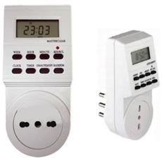 Presa Elettrica 230v Temporizzata Con Timer Digitale Settimanale 24 Ore Programmabile Temporizzatore Programmatore