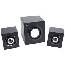 ICSB-SP4000 - Sistema Speaker Stereo con Subwoofer 2.1 8W Nero