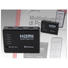 Box Multiplicatore Di Porte Hdmi Con Telecomando 5porte In 4k