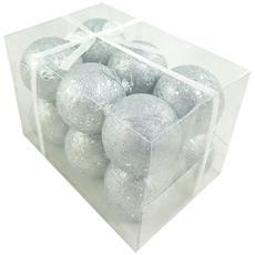 Box 12 Pezzi Palline Argento
