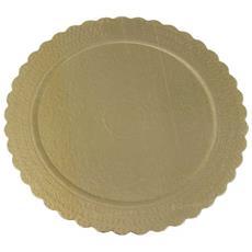 Sottotorta Oro 30cm Rotondo In Carta 1 Pz
