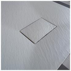 Piatto Doccia Effetto Pietra 80x140 Euclide Bianco Spessore 2,6 Cm