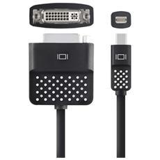 F2CD029BT, mini DisplayPort, DVI, Maschio / maschio, Nero