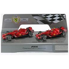 L8784 Set 2 Pcs. Ferrari F2008 1/43 Modellino