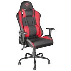 Sedia Gaming Gxt707R Ergonomica, Regolabile, Rosso, Adatta per lunghe sessioni di gioco