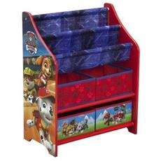Tb83344pw Mobile Porta Giocattoli / libri, Motivo: Paw Patrol, In Legno, Colore: Rosso, 50,49x 26,49x 67,99cm