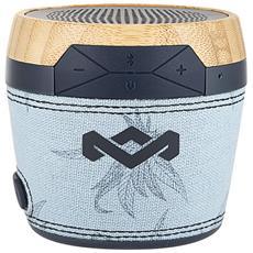 The House Of Marley Chant Mini, 1.0, Con cavo e senza cavo, Bluetooth / 3.5 mm, Bluetooth, Blu, Alluminio, Plastica, Silicone