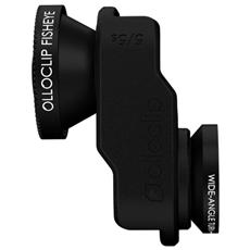 Ottica per Smartphone iPhone 5/5s Selfie 3-IN-1 colore Nero