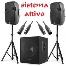 Sistema Impianto Audio Amplificato 900w ''bass-boom'' Art. 170749178018