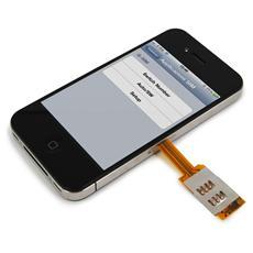 Custodia Dual SIM Nera per iPhone 4 e 4S