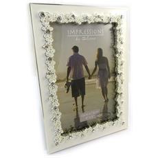 cornici portafoto 'romance' cristallo d'avorio (10x15 cm) - [ n4729]