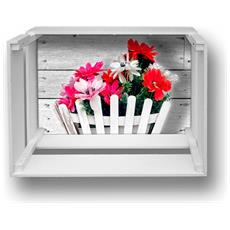 Mensola Decorativa Da Parete Design Moderno Shelf Box 30x40cm H. 20 Bouquet