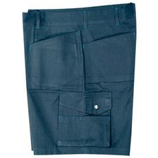 Pantaloni Corti Multitasche In Cotone Colore Blu Taglia 64