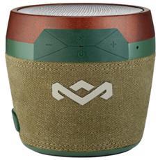The House Of Marley Chant Mini, 1.0, Con cavo e senza cavo, Bluetooth / 3.5 mm, Bluetooth, Verde, Rosso, Alluminio, Plastica, Silicone