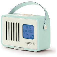 Swing, Portatile, LCD, FM, AC, Batteria, Blu
