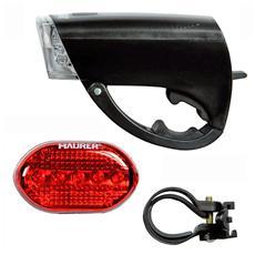 kit fanali bicicletta anteriore e posteriore luce fari Led 15+1 Maurer
