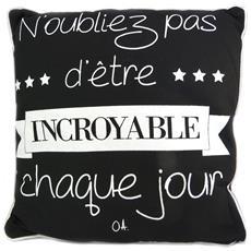 creatore cuscino cita nero (non dimenticare di essere sorprendente tutti i giorni) - 38 cm - [ p1430]