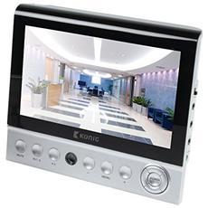 """Monitor 7"""" LCD SAS-MON51 628 x 562 Colore Argento / Nero"""