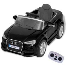 Automobile Elettrica Con Telecomando Audi A3 Nera