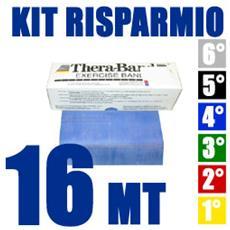 Thera Band Banda Elastica Blu 16 Metri Kit Risparmio