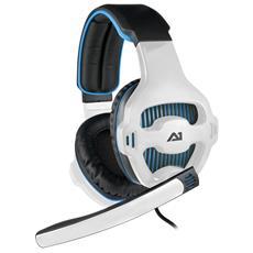 Cuffie con Microfono Connessione USB Bianca e Blu 300 cm