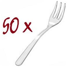 Forchettine Plastica Trasparenti 50 Pz