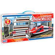 Pista Treni Veloci Cicuito Cm 200 Stazione Per Bambini 3 Anni