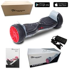 Challenger Gt 8.5'' Bluetooth+app New Wheel Hoverboard Monopattino Elettrico Scooter Smart Balance Allroad Skateboard Nero