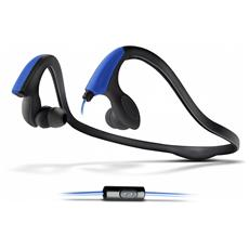 "Energy Earphones Running Two Neon Blue, Stereofonico, 3.5 mm (1/8"") , Padiglione auricolare, Nero, Blu, Cablato, Intraurale"