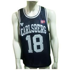 Canotta Basket Uomo L Blu
