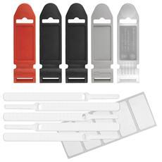 Ltc basic + label kit di fascette in velcro da 17cm + etichette, 5 pezzi white