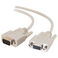 Cavo Video C2G 81168 - for Monitor - 1 Pacco - 1 x HD-15 Maschio VGA - 1 x HD-15 Femmina Video - Cavo estensione - Grigio
