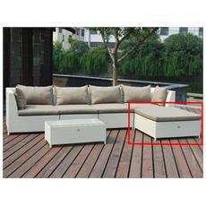 Cuscino di ricambio colore Tortora per Modulo Poggiapiedi Salotto Marettimo Set 1 pz