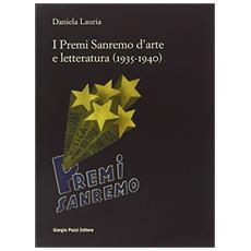 I premi Sanremo d'arte e letteratura (1935-1940)