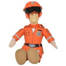 Pompiere Sam Fireman Sam Come Pilota Figura Peluche Di 25cm Arancio