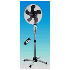 Ventilatore A Piantana Telecomando Timer 5 Pale Oscillante 360° Silver H140 60w