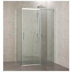 Box doccia senza profili 120x80 apertura scorrevole due lati in cristallo trasparente h190 8mm
