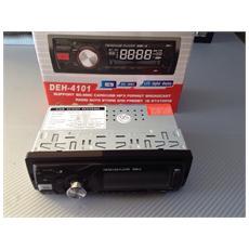 Autoradio Fm Stereo Legge Mp3 Con Porta Usb Slot Sd Uscita Aux-in Frontale 4101