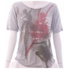 T-shirt Donna Viscosa Jersey Grigio M