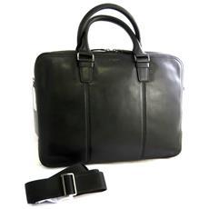 sacchetto di affari, borsa in pelle di computer nero (speciale calcolatore 15) - [ n2644]