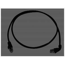 Cat. 7 MP8 FS 600 LSZH 0.5m; 1x90-degrees 0.5m Nero cavo di rete