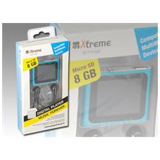 27702, MP4, Blu, Digitale, Flash-media, 8 GB, MicroSD (TransFlash)